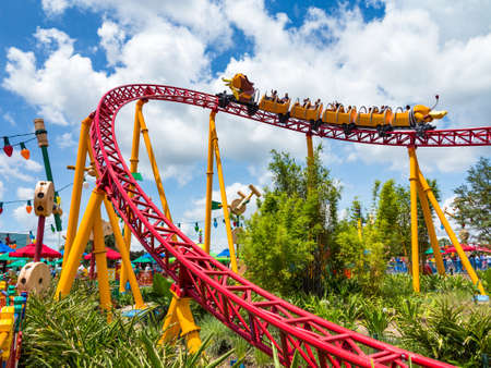 ORLANDO, FLORIDA ? July 1st, 2018 ? Slinky Dog Dash in Toy Story Land in Hollywood Studios, Walt Disney World, grand opening June 30th 2018. Éditoriale