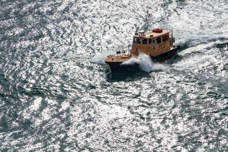 A Pilot Boat in the Atlantic Ocean Éditoriale