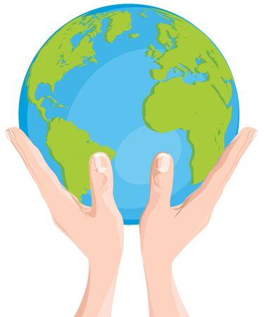 mani terra: le mani la terra Vettoriali