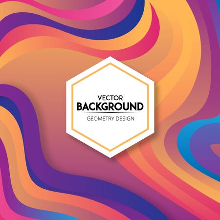 Full color background wavy shapes