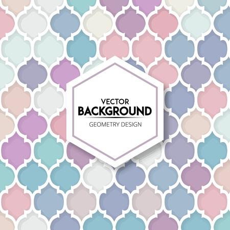 Colorful Mosaic Seamless Pattern Background Illustration
