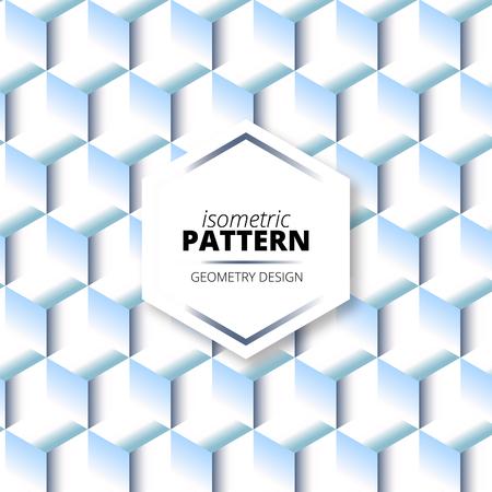 Isometric Light Degrade Pattern Design in geometric design
