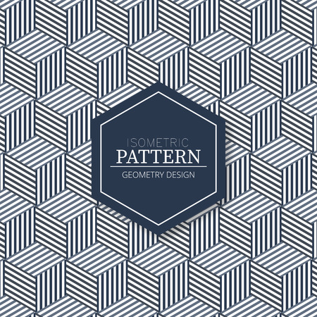 Isometric fabric texture pattern background in geometric design Ilustração