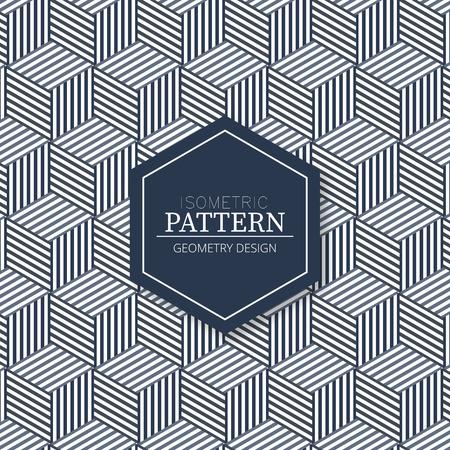 Isometric fabric texture pattern background in geometric design Illustration
