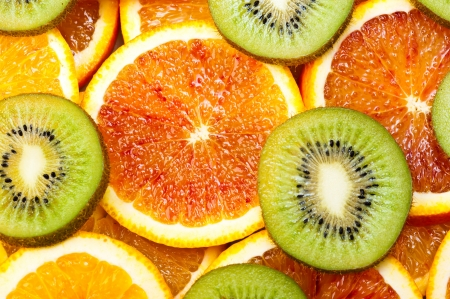 sweet oranges and kiwi photo