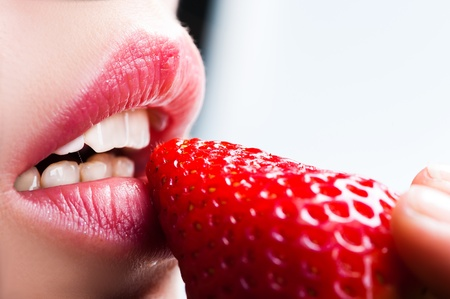 lips and strawberry