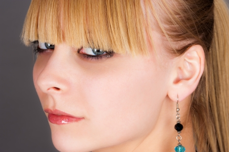 bangs: portrait of a girl with beautiful bangs