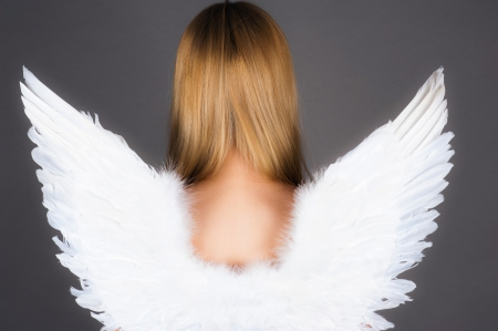 girl with angel wings Archivio Fotografico