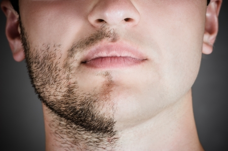 portrait of a handsome man with a shaved half his face Zdjęcie Seryjne - 20388184