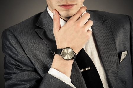 thinking business man in a suit Stock Photo - 21501384