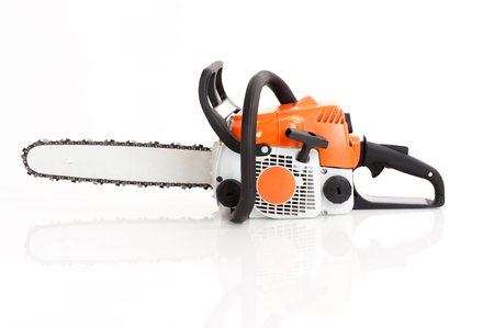 chainsaw isolated on white  photo