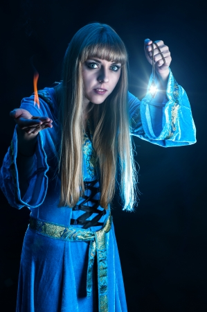 female magician photo
