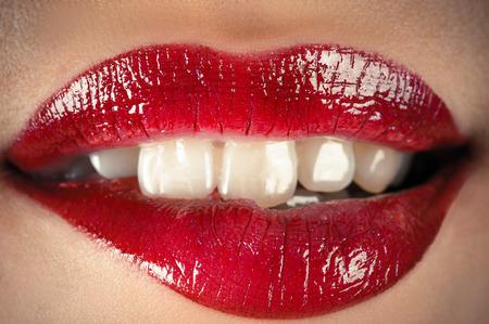sensual lips closeup Zdjęcie Seryjne