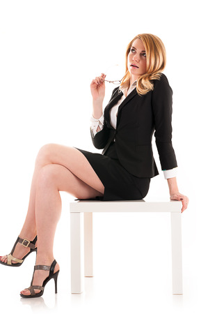 business woman isolated on white background photo