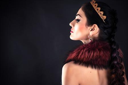 beautiful luxurious princess in the diadem Banco de Imagens