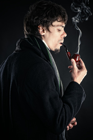 Sherlock Holmes with a pipe photo
