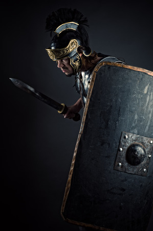 legionary: brutal warrior with sword and shield