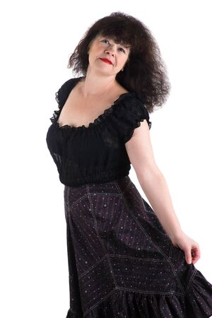 mature adult: attractive mature adult woman in a dress