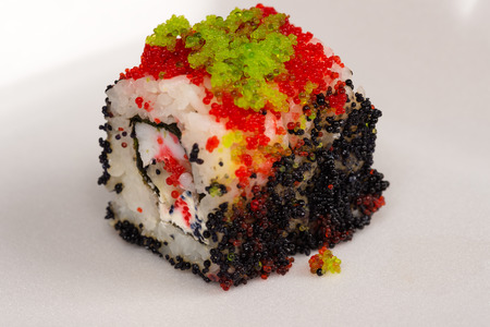 japanese cookery: red roll closeup