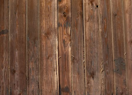 Detail of wood on the side of an old barn