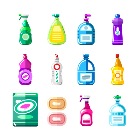 Household chemicals, cleansers and detergent.
