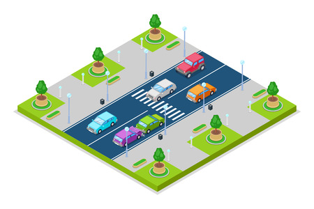 Safety street traffic and road concept.