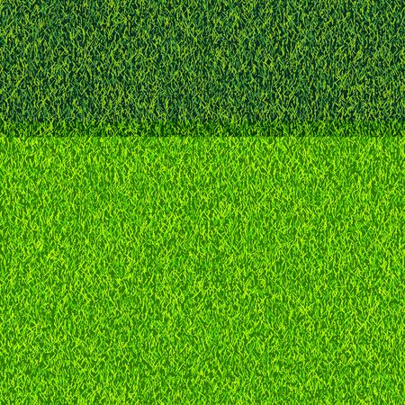 Grass seamless realistic texture. Green lawn, field or meadow vector background. Summer or spring nature illustration.
