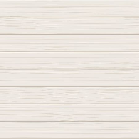 Wooden white seamless realistic texture. Light wood planks vector background. Table board or floor surface illustration.