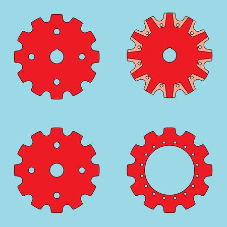Sprocket wheel vector
