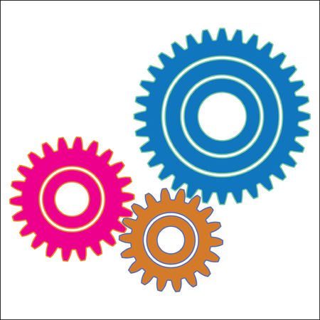 illustration of gear wheel that provides the desired motion
