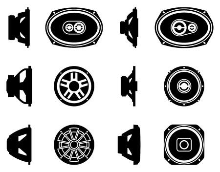 Speaker driver. Car audio. Silhouette vector