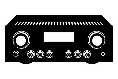 integrated amplifier. Audio equipment. Vector illustration Ilustrace