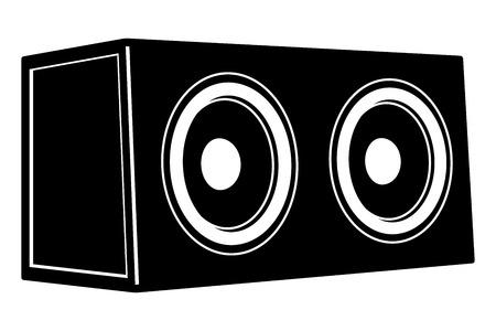 Subwoofer. Car audio. Vector illustration 版權商用圖片 - 121658124