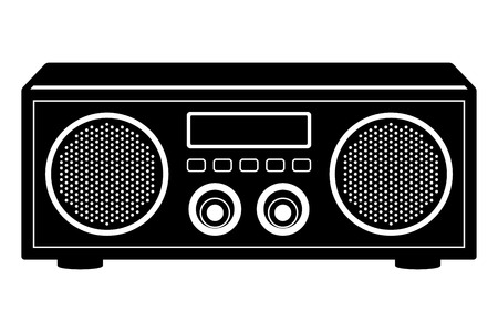 Radio tuner. Standalone audio component. Vector illustration
