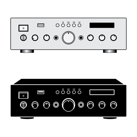 Karaoke amplifier. Sound equipment. Vector illustration Иллюстрация