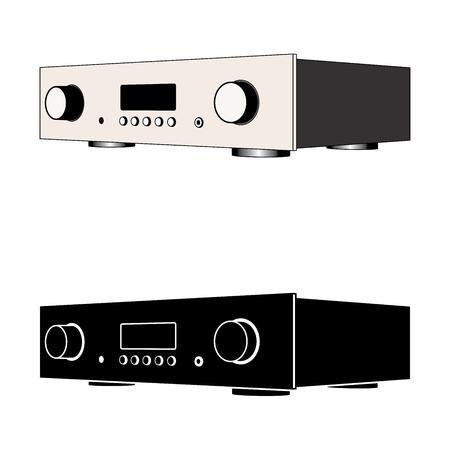 integrated amplifier. Sound equipment. Vector illustration