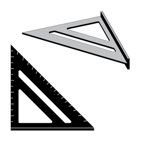 Outil de mise en page carré. Appareil de mesure. Vecteur d'effet plat et 3D