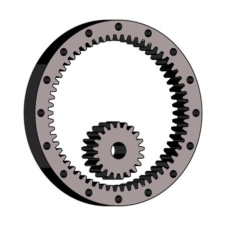 Spur gear and internal gear Vetores