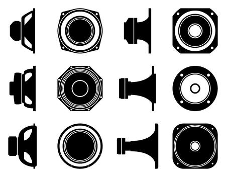 Speaker driver. Audio equipment. Flat vector icon Illustration