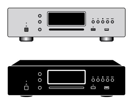 CD players. Digital source. Vector illustration