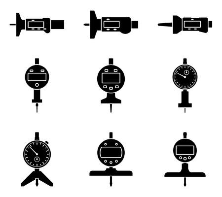 Depth gauge. Measuring tools. Vector illustration Vettoriali