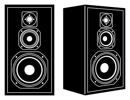 Loudspeaker. Audio equipment. Vector illustration Illustration