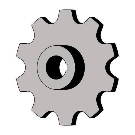 Sprocket for conveyor chain. 3D effect. Vector illustration Ilustrace