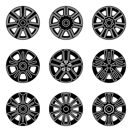 Car wheel trims.