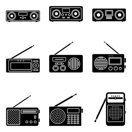 Set of portable radio icons. Ilustrace