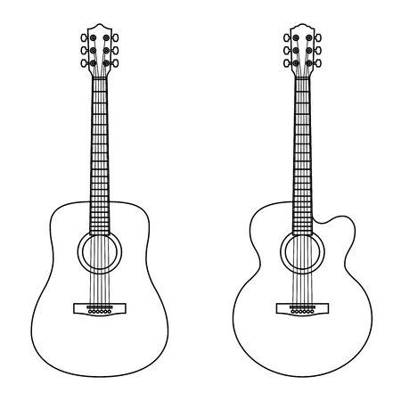 Acoustic guitar. Musical instrument.