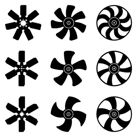 Fan blade. Car parts. Flat icons. Ilustrace