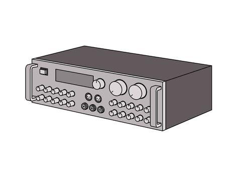 Karaoke mixing amplifier. Illusztráció