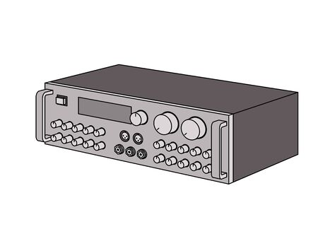 Karaoke mixing amplifier. Illustration