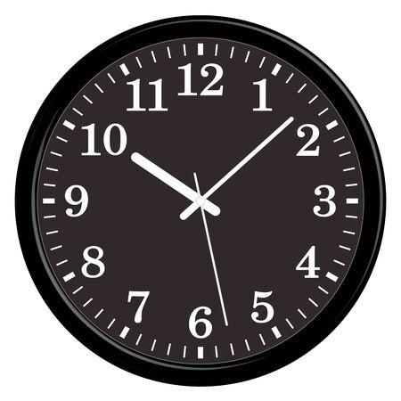 Circular wall clock. Home furniture.